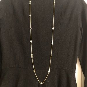 Fabulous Kate Spade bow and spade necklace